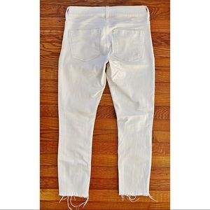 Express Jeans - white, cropped skinny jean